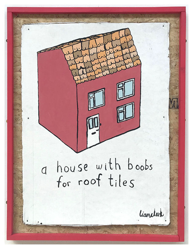 A House With Boobs For Roof Tiles, painting, 2018.jpeg